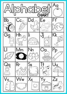 FREE Alphabet and Letter Sounds charts (color and black and white). They would…