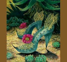 For the agave lover, desert gardener, or shoe lover -- fanciful prints of heels and boots made of cactus, succulents, and other desert denizens by Arizona artist Carolyn Schmitz. Reasonably priced and sure to elicit a smile. Made in USA.