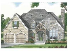 Build your ideal home with this French Country house plan with 3 bedrooms(s), 2…