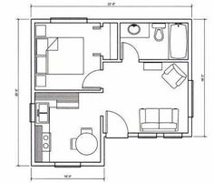 Tiny House - One bedroom Cottage Interior Design. This links to a French site that appears to be a clearing house ?blog? For micro to tiny to small houses from all over the world.  although in French you are able to navigate from one floor plan or photos to the next.