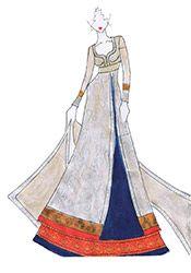 DIY Blue Art Silk Long Choli Lehenga
