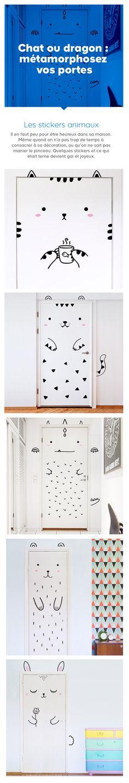 Ces stickers animaux sont la porte ouverte à toutes les formes de créativité dans la déco de la chambre de Bébé !