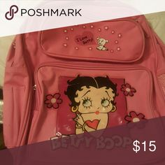 Slightly Used Betty Boop Back bag Cute Pink Betty Boop Back bag Accessories Bags