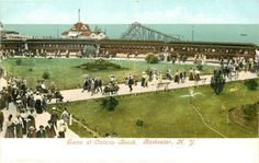 Ontario Beach Park, Rochester, New York. Early 1900s.
