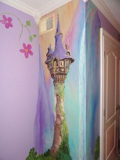 Esimate for Rapunzel room, Rapunzels tower, Princess room, custom kids wall art, Castle murals, MURALS,  mural on walls or canvas