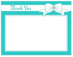 thank you card - diamond embellished bow