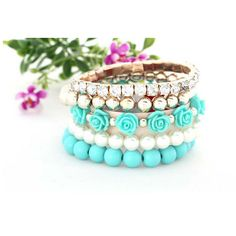 You're in Style with 1 or 2 of these Colorful Bracelets Item Type: Bracelets Fine or Fashion: Fashion Style: Trendy Gender: Women Setting Type: Prong Setting Bead Jewellery, Beaded Jewelry, Jewelry Bracelets, Bangles, Fashion Bracelets, Fashion Jewelry, Pearl Bracelet, Flower Bracelet, Colorful Bracelets
