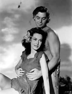 Johnny Weissmuller and Maureen O'Sullivan  played the roles of Tarzan and Jane in 6 Tarzan films between 1932-1942.