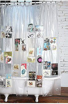 picture shower curtain