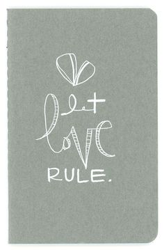 let love rule - a pocket moleskine journal