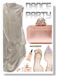 """""""party"""" by sandevapetq ❤ liked on Polyvore featuring Rick Owens, Jimmy Choo, Anne Sisteron, Chanel, L'Oréal Paris and MAC Cosmetics"""