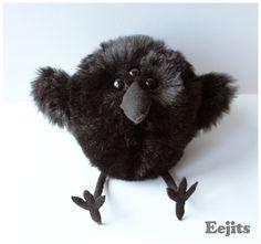 Bran - Game of Thrones inspired Three Eyed Raven - handmade plush toy