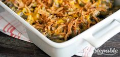 Cheesy Green Bean Casserole with Bacon - NO cream of canned stuff. Will ONLY use this recipe.