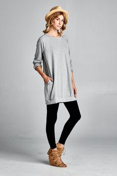 """We call it a """"tunic,"""" but really it's a giant sweatshirt with pockets. Comfy and cute!"""