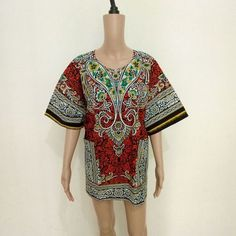 2016 New Summer Style Dashiki Dress Fashion Women Traditional African Print Short Sleeve Party African Dress Plus Size Clothing