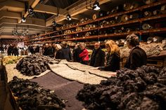 Swiss carpet manufacturer Ruckstuhl at the Designer's Saturday 2016 in Langenthal, Switzerland. Carpet Manufacturers, Natural Materials, Rugs On Carpet, Switzerland, Designers