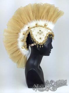 Tulle Mohawk Headdress by MissGDesignsShop on Etsy