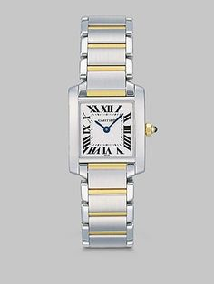 Some day you'll be mine! - Cartier Tank Francaise Stainless Steel & 18K Yellow Gold Watch on Bracelet, Small