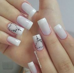 The 90 Vigorous Early Spring Nails Art Designs are so perfect for this Season Hope they can inspire you and read the article to get the gallery. French Manicure Nails, Diy Nails, Manicure And Pedicure, Nail Nail, Fancy Nails, Love Nails, Pretty Nails, Spring Nail Art, Spring Nails