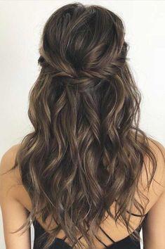 Curly Hair Styles, Long Curly Hair, Medium Hair Styles, Hair Styles Party, Medium Hair Wedding Styles, Medium Length Wedding Hair, Prom Hair Styles, Formal Hairstyles, Bride Hairstyles