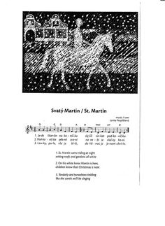 Svatý Martin Martin S, Preschool Music, School Clubs, Kids Songs, Kids Crafts, Advent, Religion, Historia, Nursery Songs