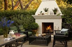 Backyard Living Room With Fireplace - Yahoo Image Search Results