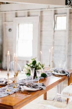 Restored barn with white shiplap as the backdrop to a romantic, soft, contemporary wedding design. Event Design: Always Yours Events - http://www.stylemepretty.com/portfolio/always-yours-events Photography: Megan Braemore Photography - meganbraemore.com   Read More on SMP: http://www.stylemepretty.com/2016/03/28/dove-gray-soft-white-wedding-inspiration/