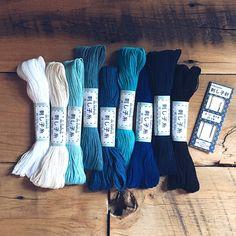 Sashiko thread and needles  available at Fringe Supply Co (online)