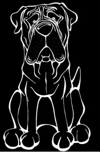 Mastiff  http://angrysquirrel.myshopify.com/collections/car-window-decals/products/mastiff-decal