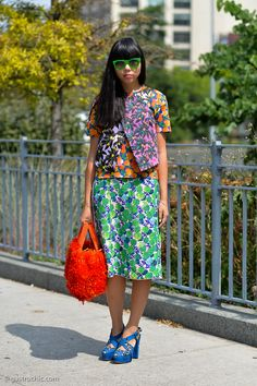 Susie splashing some colour about in NYC. #SusieLau #StyleBubble