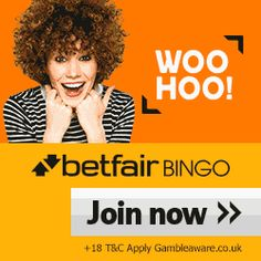 Betfair Bingo Get started with Betfair Bingo and a £30 Welcome Bonus! Welcome Offer – Spend £10 get £40 to play with.