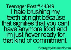 That's why I hate doing it in the morning! I'm fine with doing it at night.