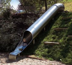 We could totally do this slide on our hill!