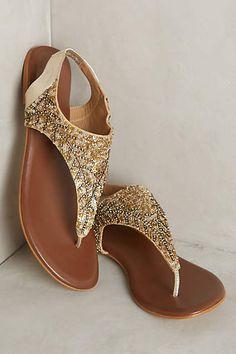 Deepa Gurnani Sequined Sandals - #anthrofave