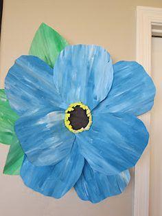 Pappersblommor: färglägg, klipp och klistra och vips så har du en tidig vårbukett.