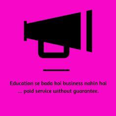 Paid education kill society
