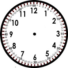 Blank Clock Template - Here is a clock I created to show kids the minutes and the hours very explicitly.