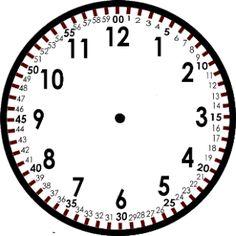 Reloj imprimible