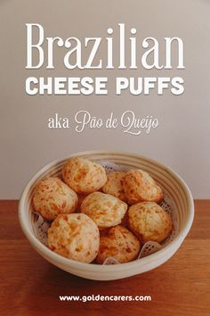 This recipe is so simple and so delicious! Pão de Queijo is a popular savoury Brazilian snack and breakfast food.