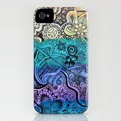 Watercolor Doodle iPhone Case
