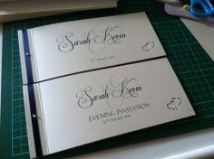Luxury Personalised Cheque Book Wedding Invitations