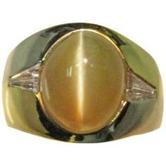 761c96a097741 17 Carat Chrysoberyl Cat s Eye Men s Yellow Gold Ring. Gold Rings For SaleDiamond  ...