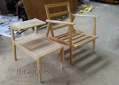 Production and manufacturing of scandinavian mid century furniture style by Jepara Goods Woodworking Studio Indonesia.