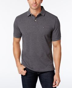 Balance dark wash jeans with this basic yet timeless big and tall polo design by Tommy Hilfiger. two-button placket Tommy Flag embroidery at chest All cotton Machine washable Imported Polo Design, Big Men Fashion, Mens Big And Tall, Baby Clothes Shops, Uniqlo, Timeless Fashion, Tommy Hilfiger, Mens Tops, Ivy