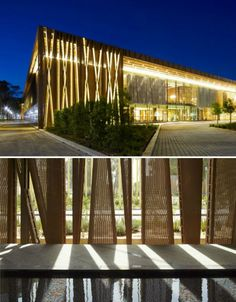 backlit perforated metal screen architecture - Google Search