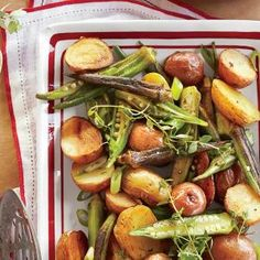 Roasted Potato-and-Okra Salad | MyRecipes.com