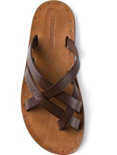 DSquared2 | strappy flat sandal | menswear essentials sandals #dsquared2 #sandals