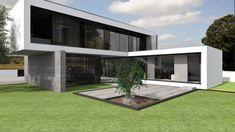 Projeto Rubi Home Building Design, Building A House, Modern Architecture House, Architecture Design, Amazing Architecture, Country Modern Home, Shed To Tiny House, Modern Bungalow House, Modern Villa Design