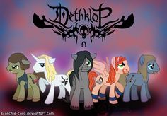 Metalocalypse Ponis...I think I'm going to make these...for real real.