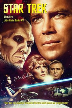 "Star Trek: The Original Series ""What are Little Girls Made Of?"" (First Broadcast: October Star Trek Meme, Star Trek 1966, Star Wars, Star Trek Tos, Star Trek Tv Series, Star Trek Original Series, Akira, Science Fiction, Star Trek Posters"